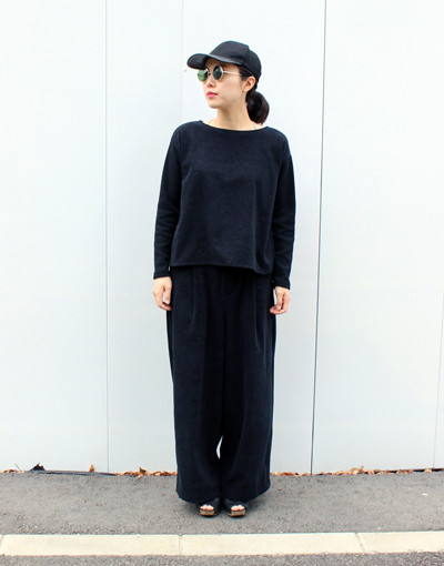 TF Change sleeve top x TF Wide trousers(THING FABRICS)