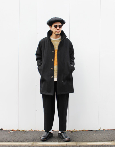 WL Angora Wool Coat (WHITE LINE) x DOUBLE PLEATED TROUSERS REGULAR (marka)