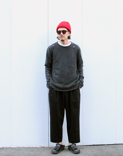INTERVAL KNIT(Ksubi) x DOUBLE PLEATED TROUSERS REGULAR (marka)