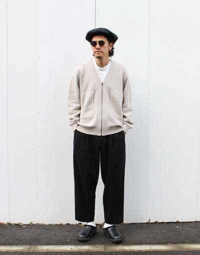 wholegarment zip CD(crepuscule) x DOUBLE PLEATED TROUSERS REGULAR (marka)