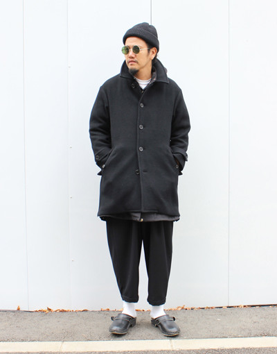 WL Tasmaniawool Layered coat(CAL O LINE) x THAI PANTS(marka)