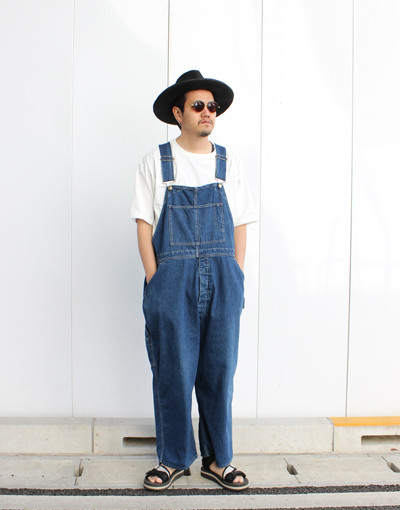 USED DENIM OVERALL(CAL O LINE)