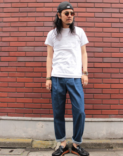 gilet tee x Palm d'Or wide jeans