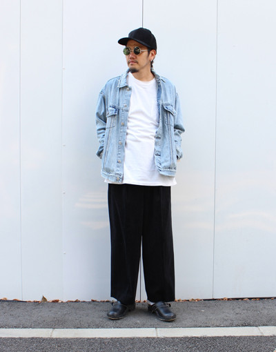 OH G JACKET:KSUBI x FRONT PLEATS WIDE TROUSERS:MARKAWARE