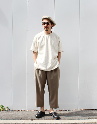 TF-T-Shirt(THING FABRICS) x DOUBLE PLEATED TROUSERS REGULAR (marka)