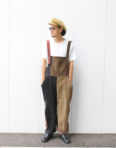 CORDUROY APRON OVERALL(Varde77-MAKEOVER)