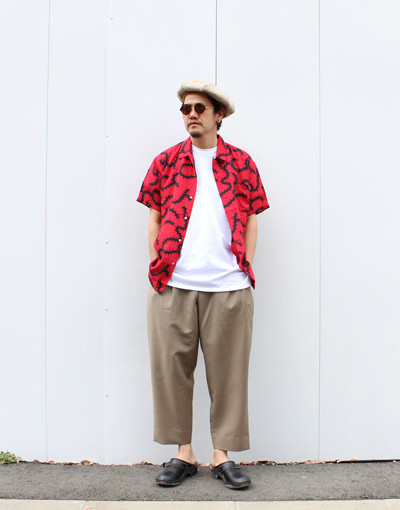 MORNING GLORY(DOUBLE RAINBOUU) x DOUBLE PLEATED TROUSERS REGULAR (marka)