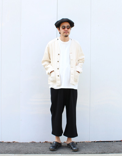 EMB ENGINEERS JACKET(CAL O LINE) x WIDE DRY SWEAT PANTS(JUHA)